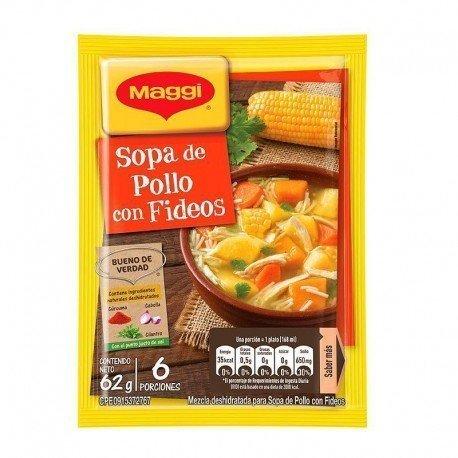 SOPA POLLO CON FIDEOS MAGGI...